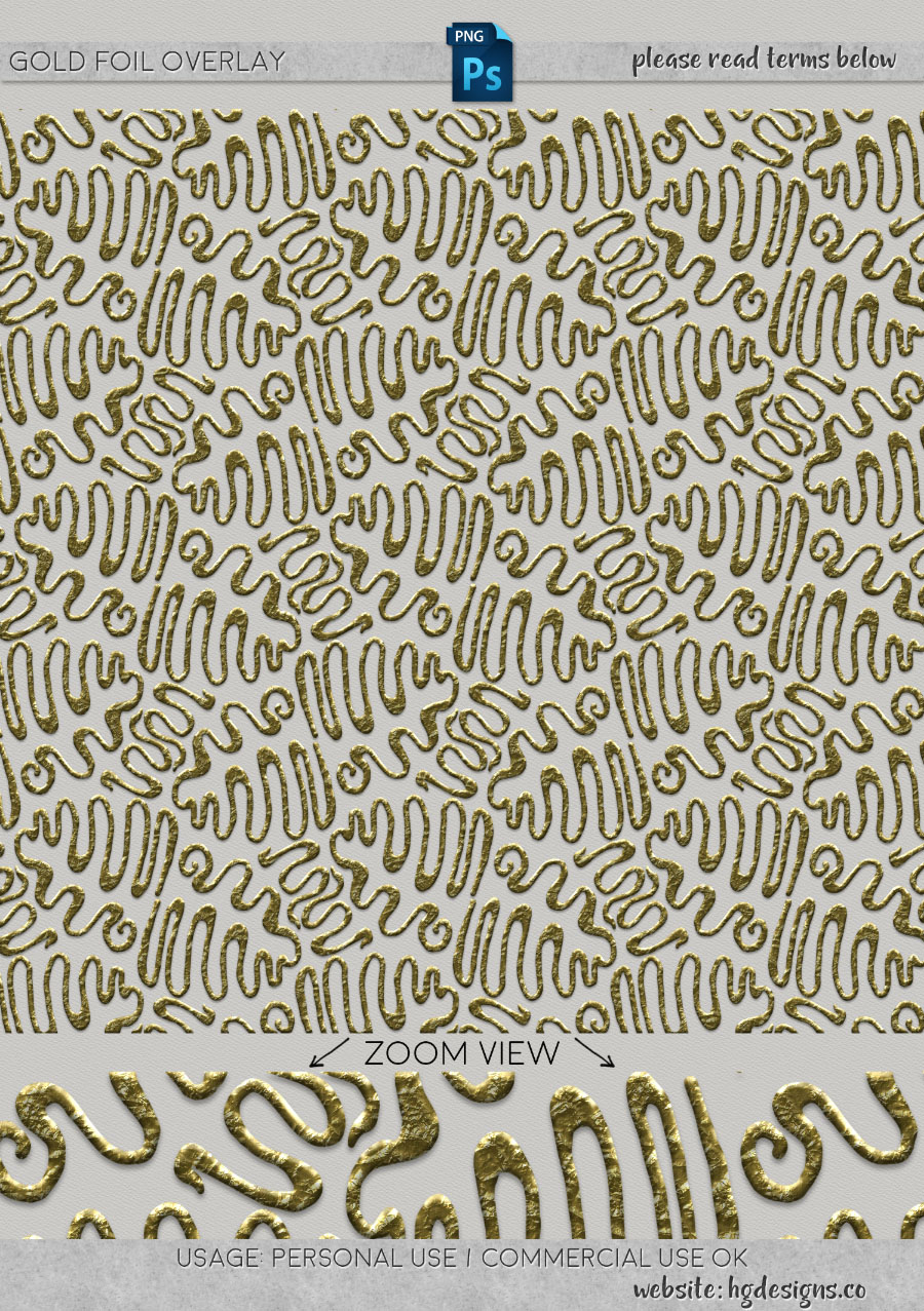 freebie: gold foil overlay