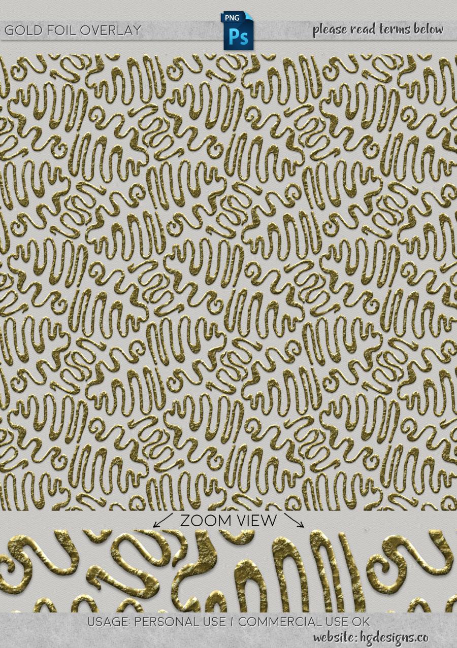 freebie: gold foil overlay