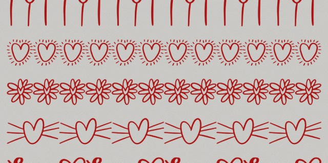 Free download ~ heart borders in photoshop brush format
