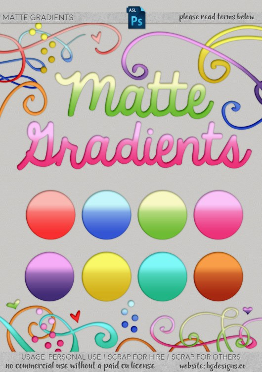 Free download ~ matte gradient Photoshop layer styles