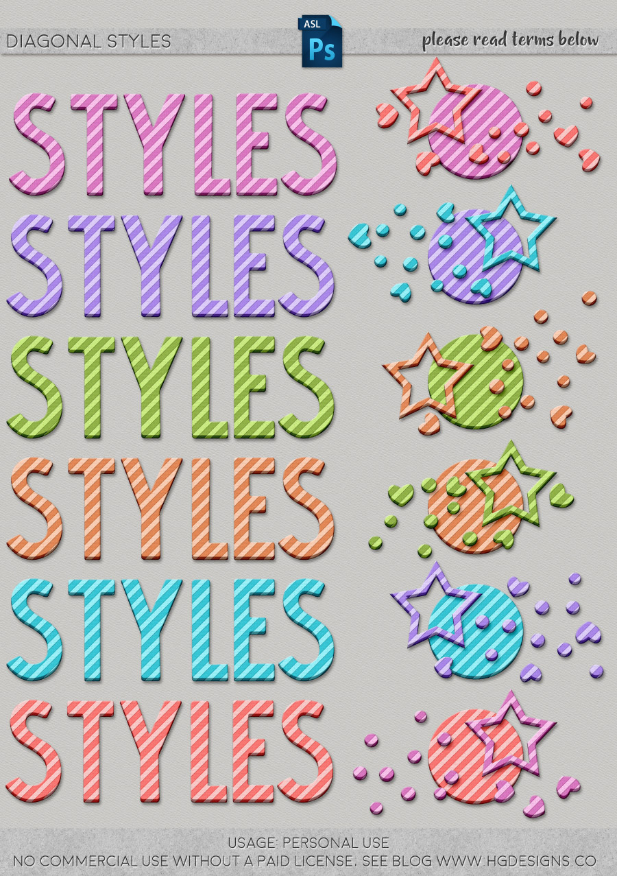 freebie: diagonal striped photoshop layer styles