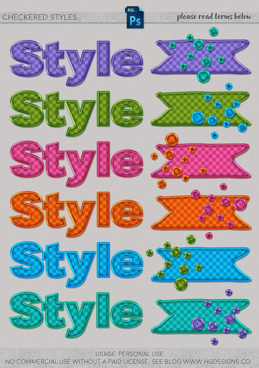freebie: checkered photoshop layer styles