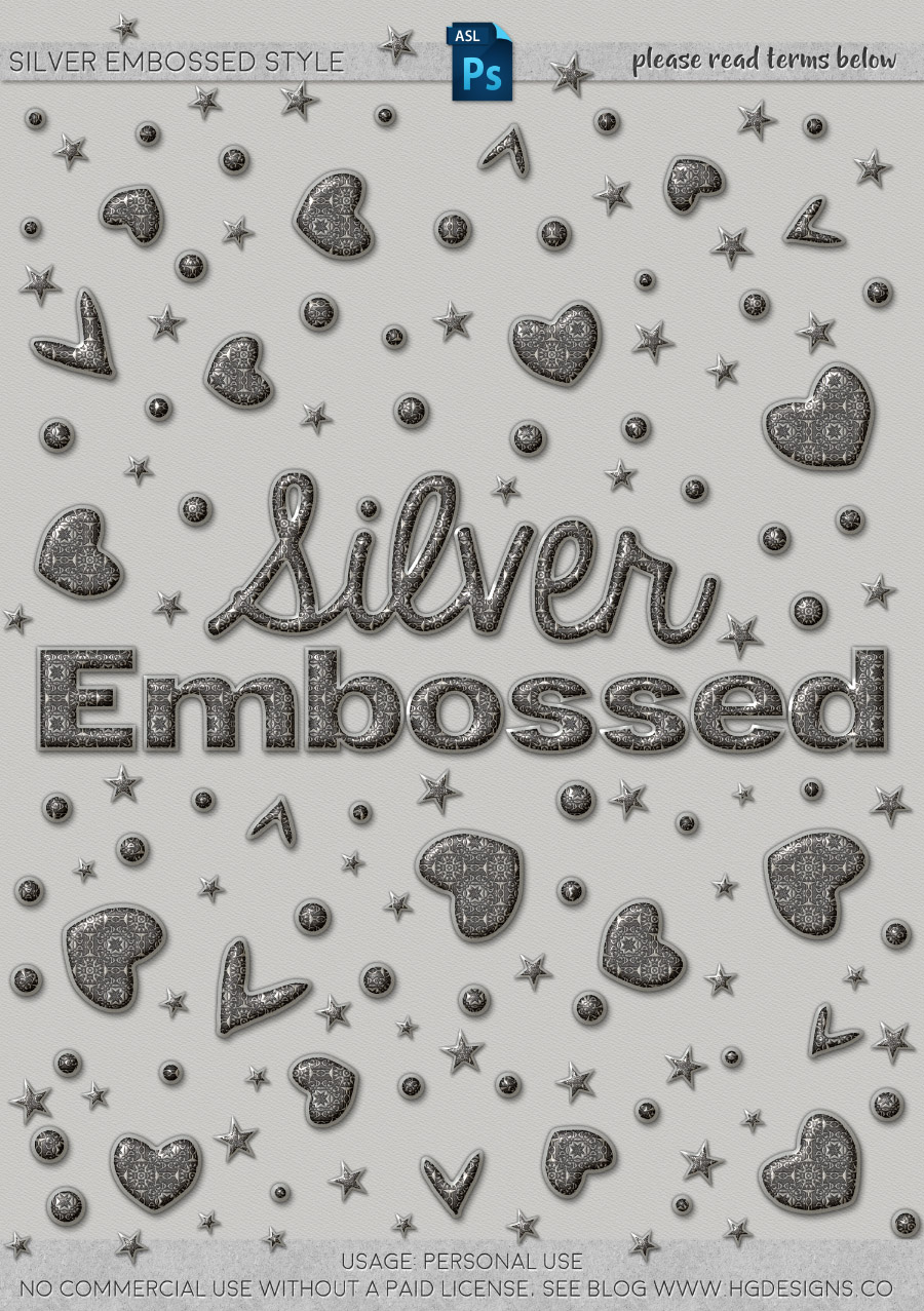 freebie: silver embossed photoshop layer style