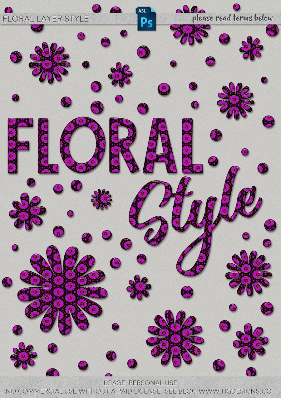 freebie: floral photoshop layer style