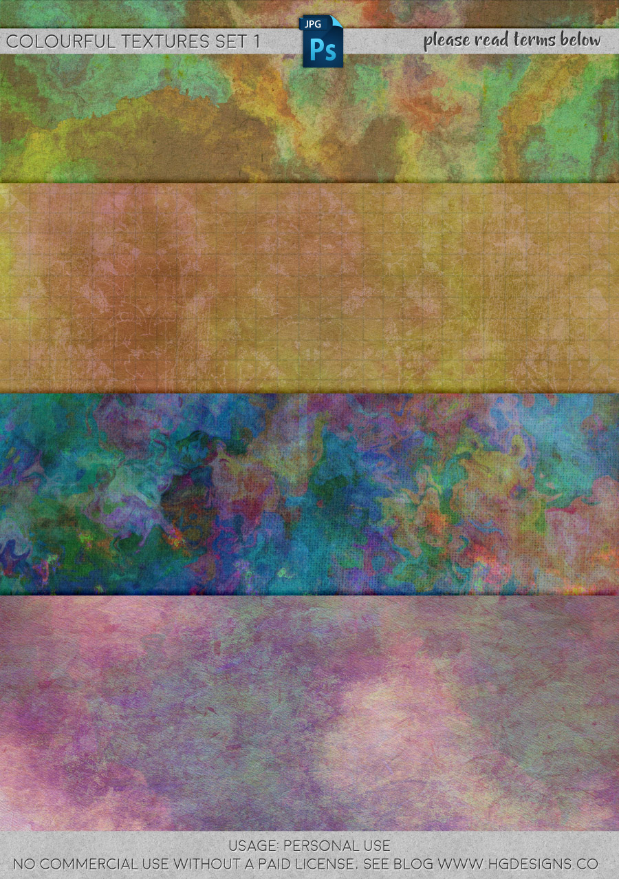 freebie: colourful textures