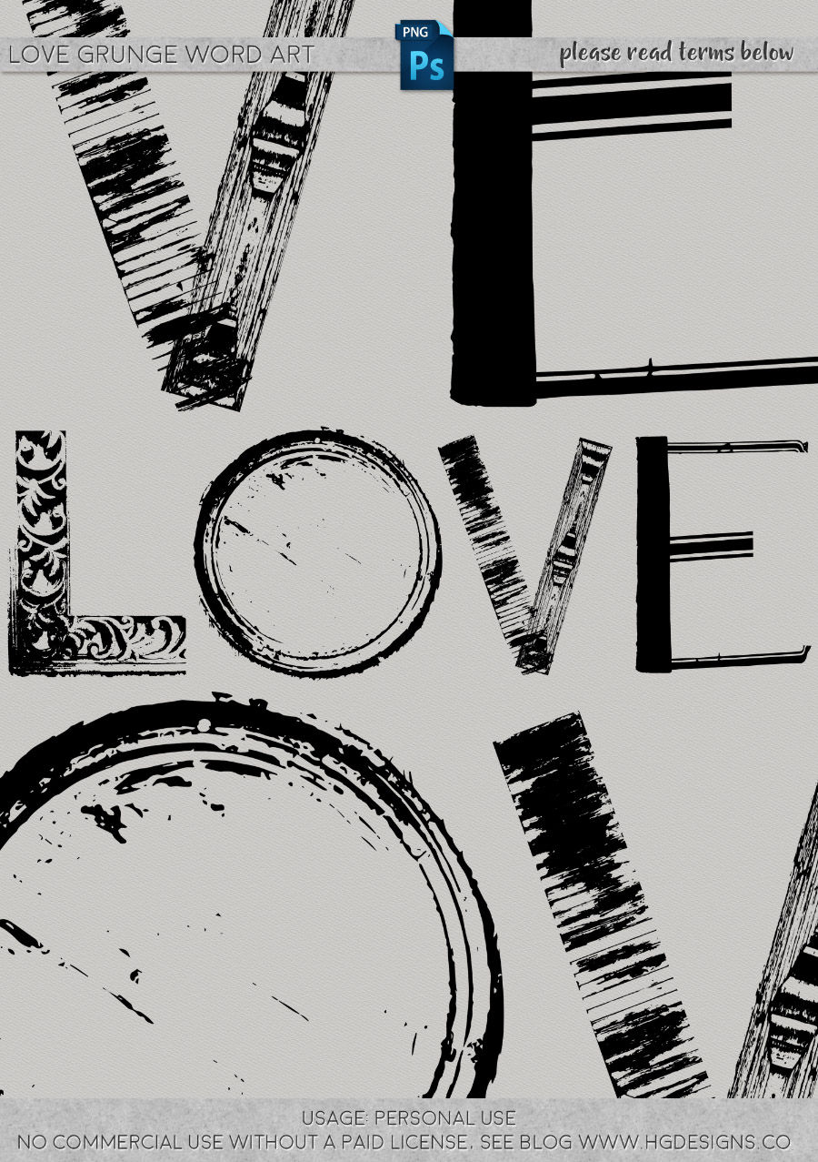 freebie: love word art