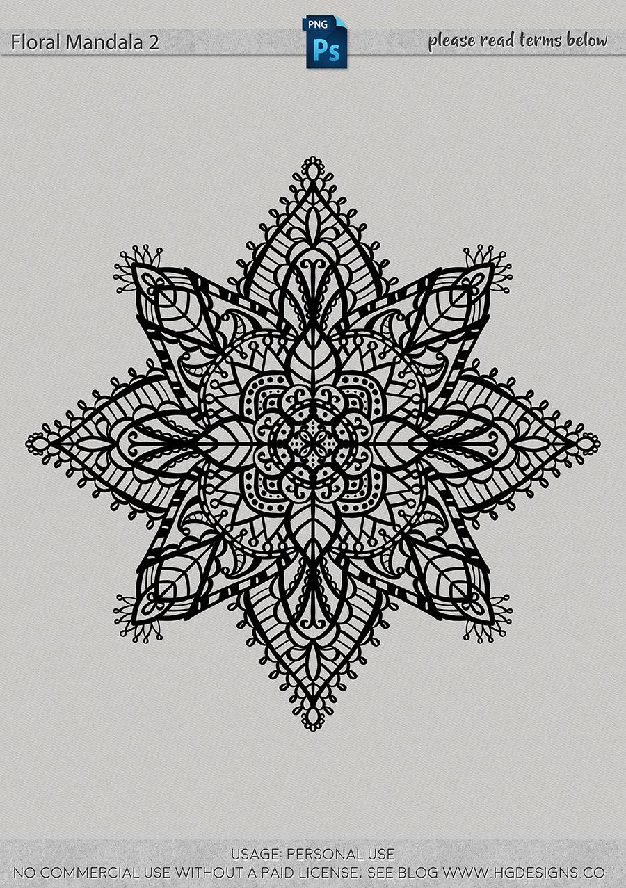 freebie: floral mandala #2