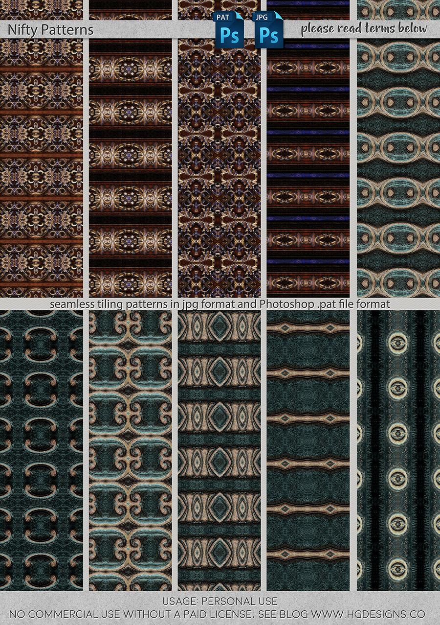 freebie: nifty seamless tiling patterns set