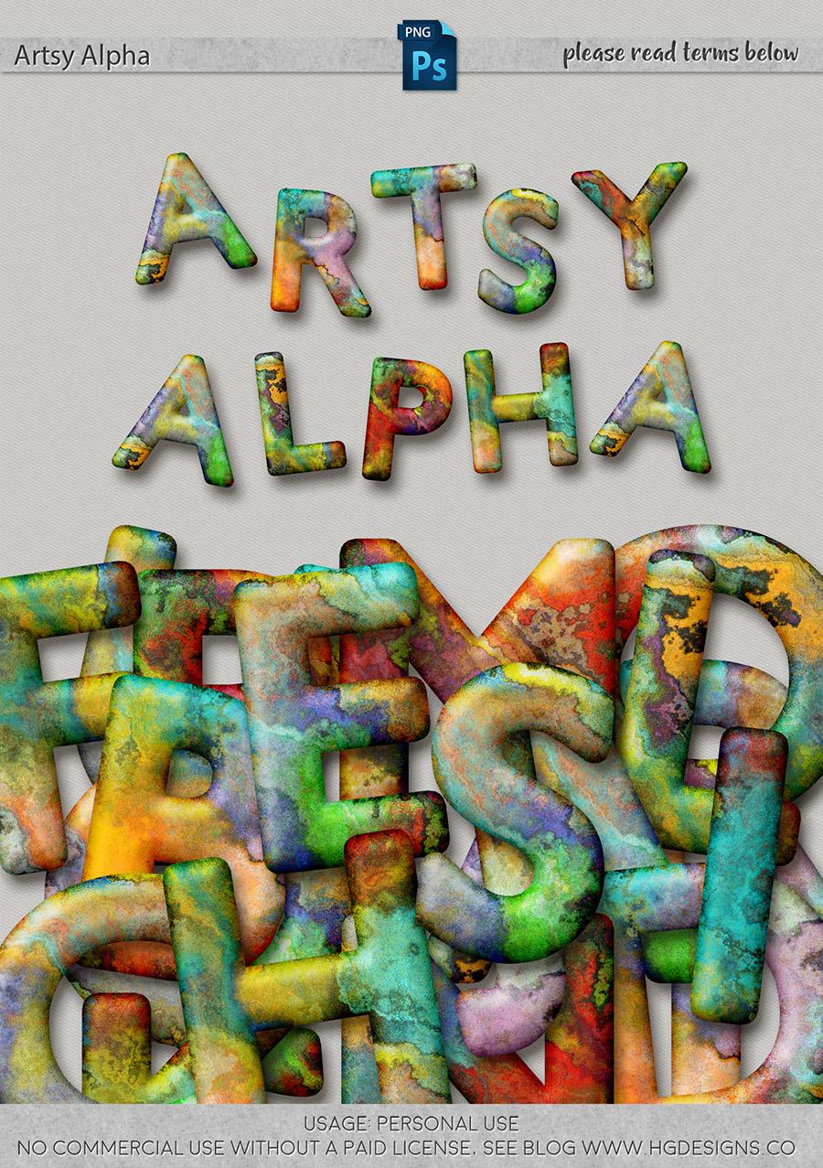 freebie: artsy alphabet