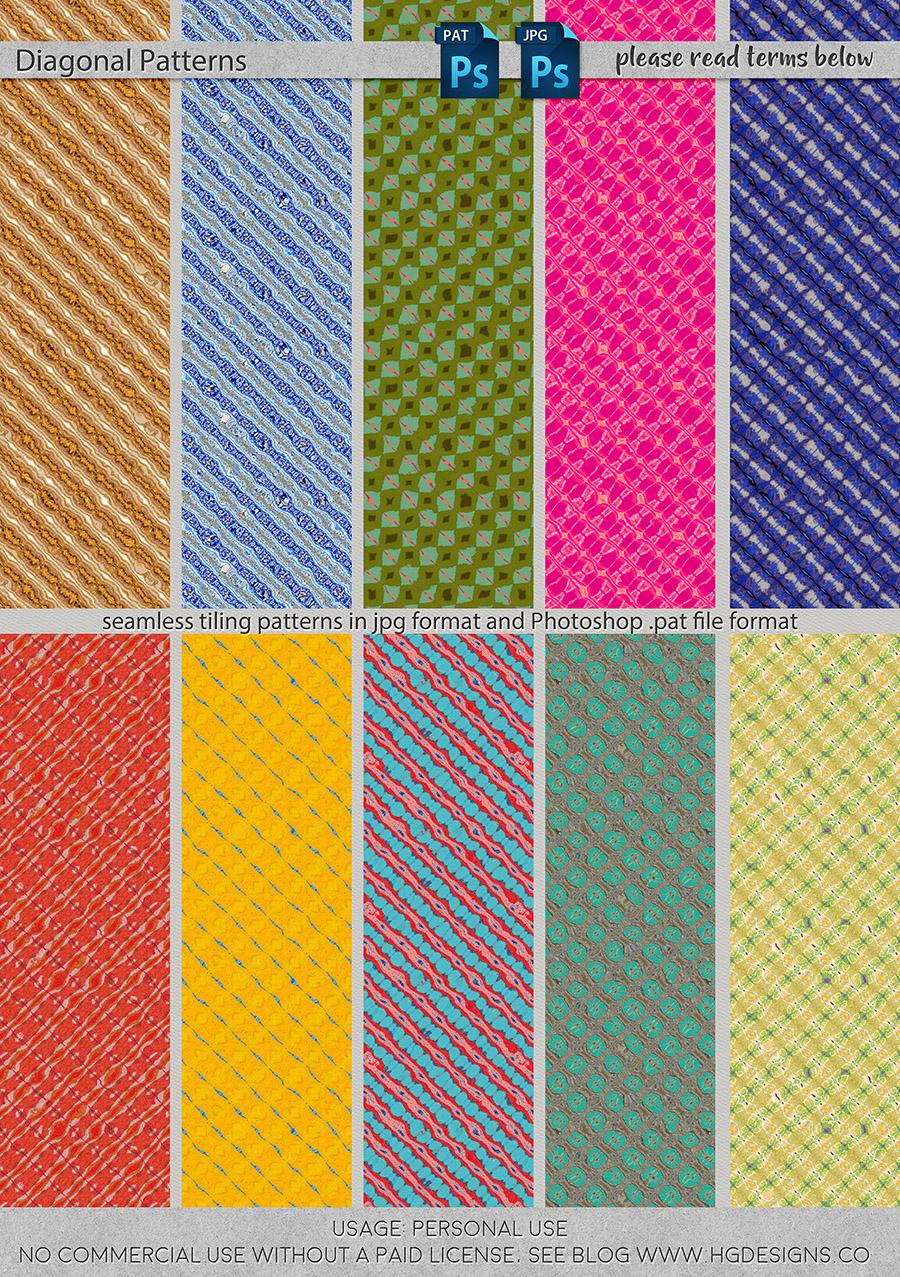 freebie: seamless tiling diagonal patterns