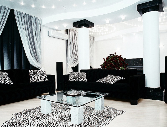 Black Leather Sofa Sets Inspiring Ideas for Living Room - hgnv - black living room set