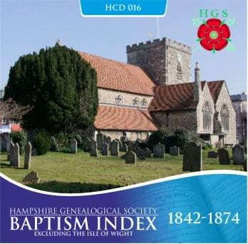 Hampshire Parish Indexes on CD