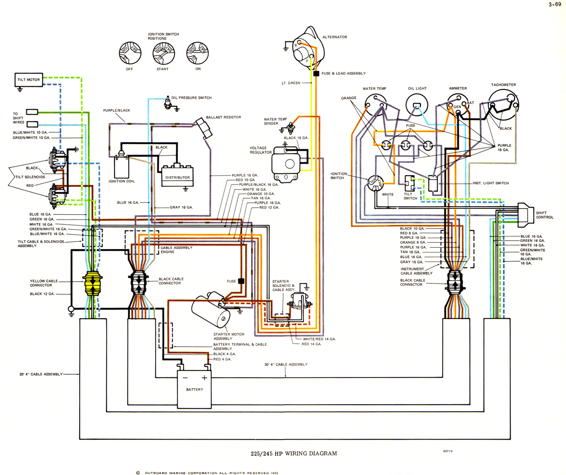 73_OMC_V8_all_big?resize=650400 wiring diagram for 2002 bayliner trim tilt tilt and trim problems Electric Water Pump Wiring Diagram at creativeand.co