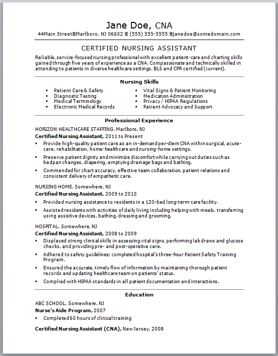 sample certified nurse assistant resume certified nursing assistant resume sample one resume samples nursing assistant top