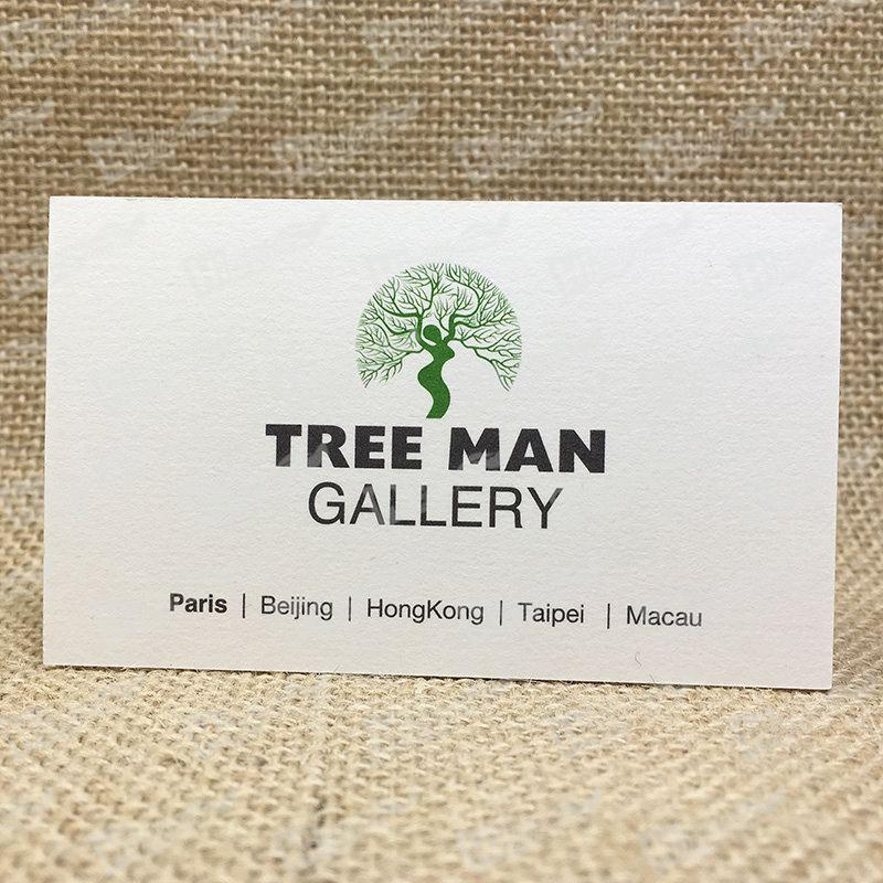 Thick Business Cards Printing With A Tree Man , Cards, Business