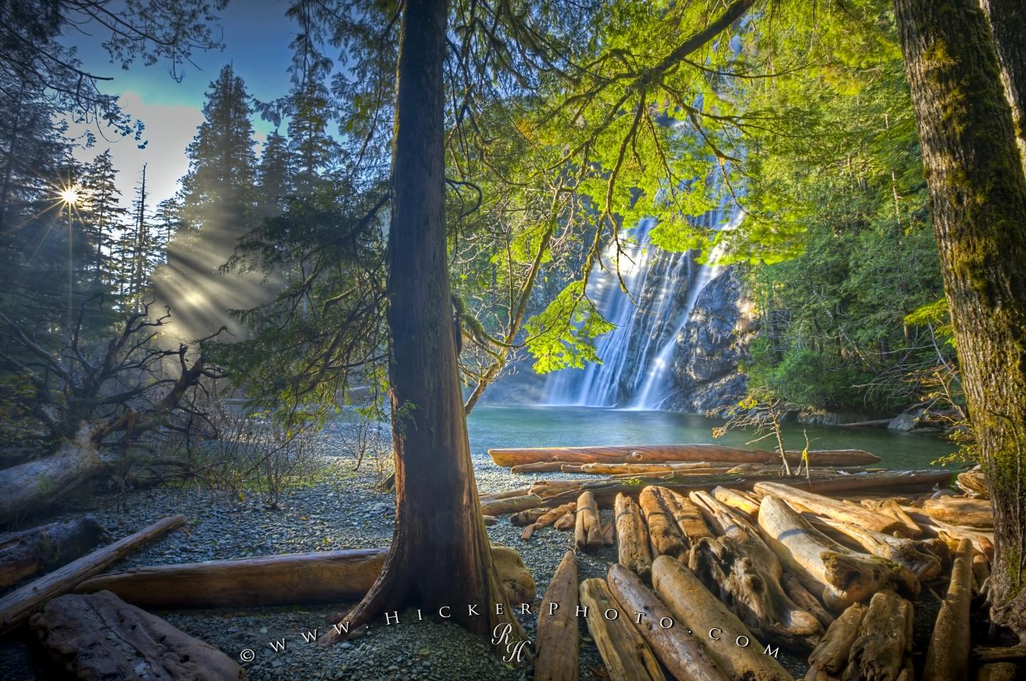 Fall Morning Sun Wallpaper Free Wallpaper Background Surreal Waterfall Scenic