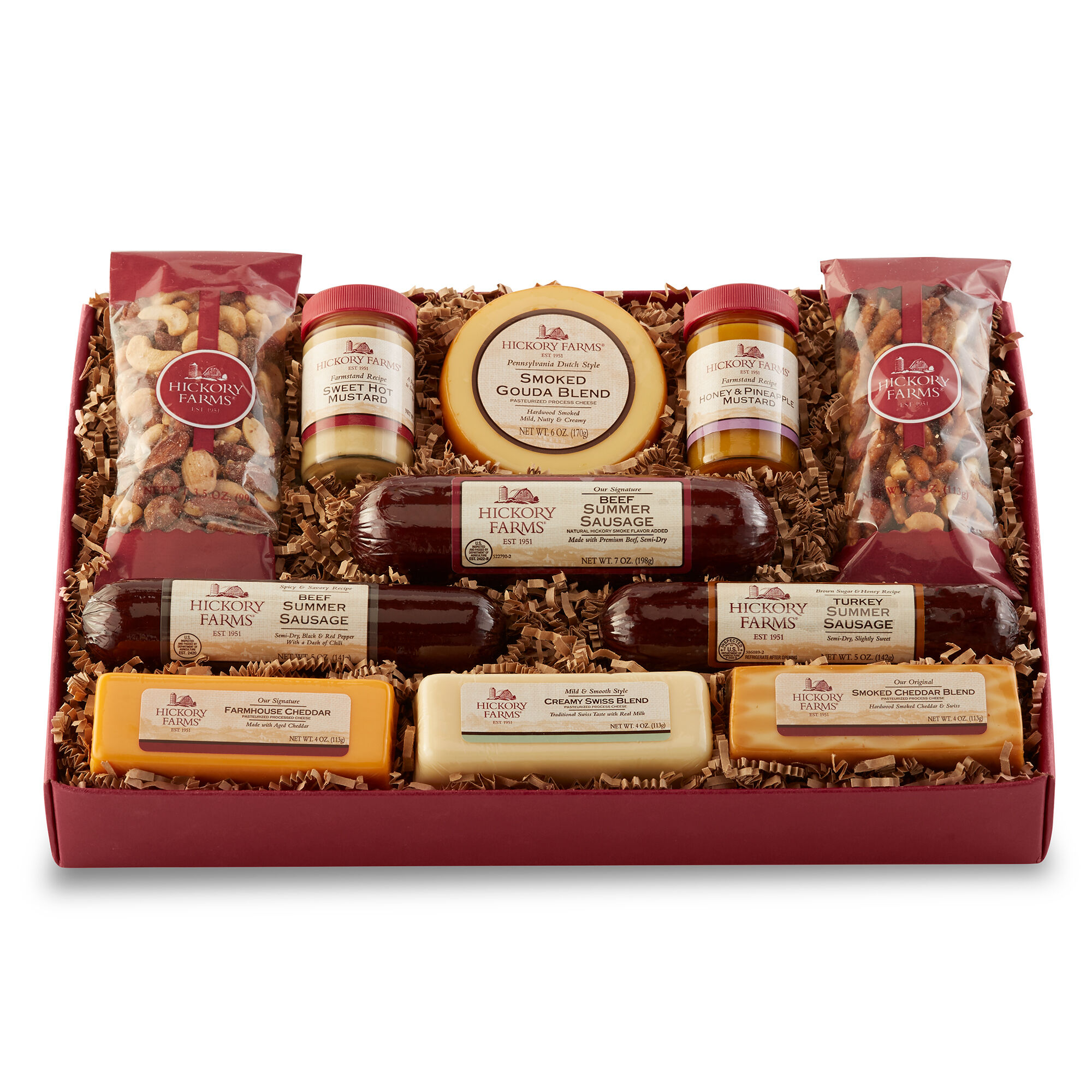 Meat And Cheese Gift Baskets Hickory Farms