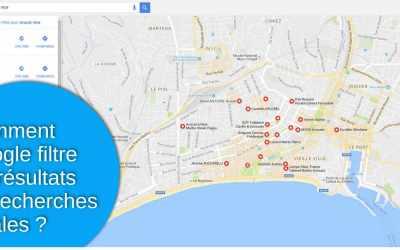 Comment Google filtre les résultats de recherches locales ?