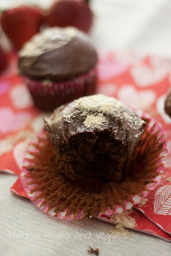 Healthier Chocolate Malt Cupcakes
