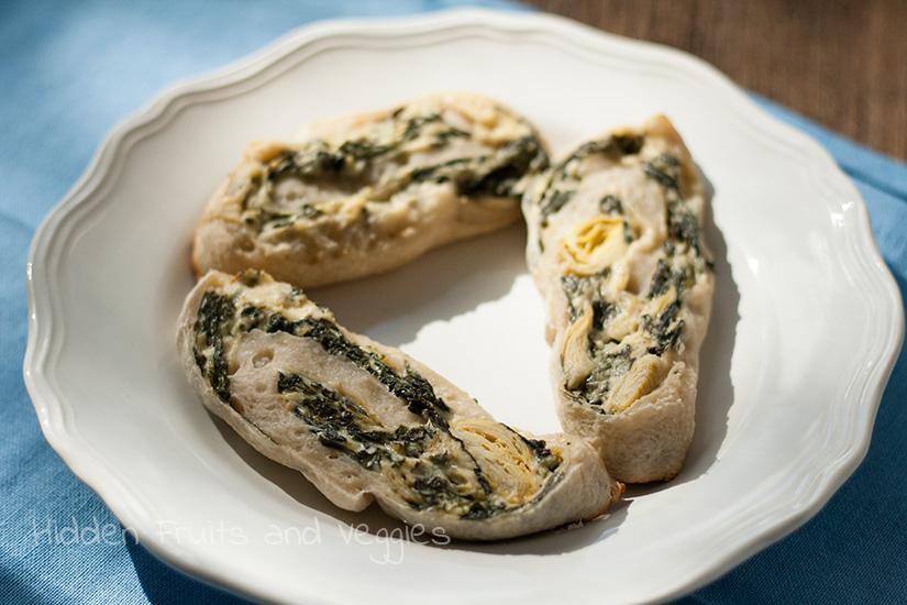 Spinach and Artichoke Pinwheels