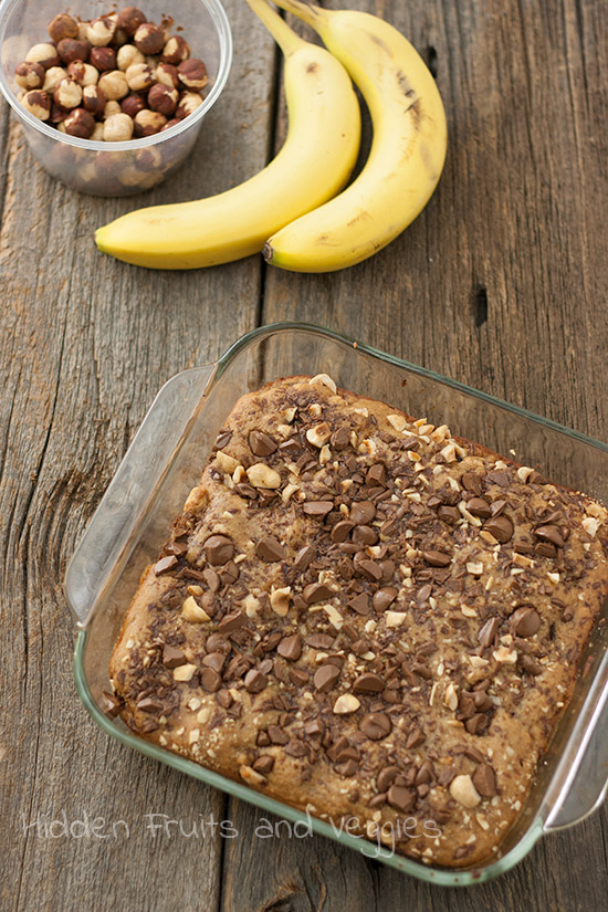 Chocolate and Hazelnut Banana Breakfast Cake