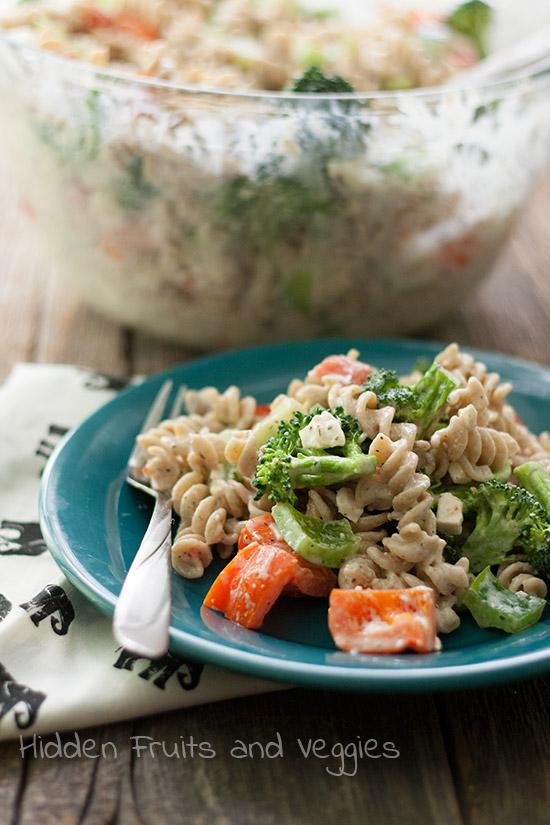 Tangy Veggie and Pasta Salad