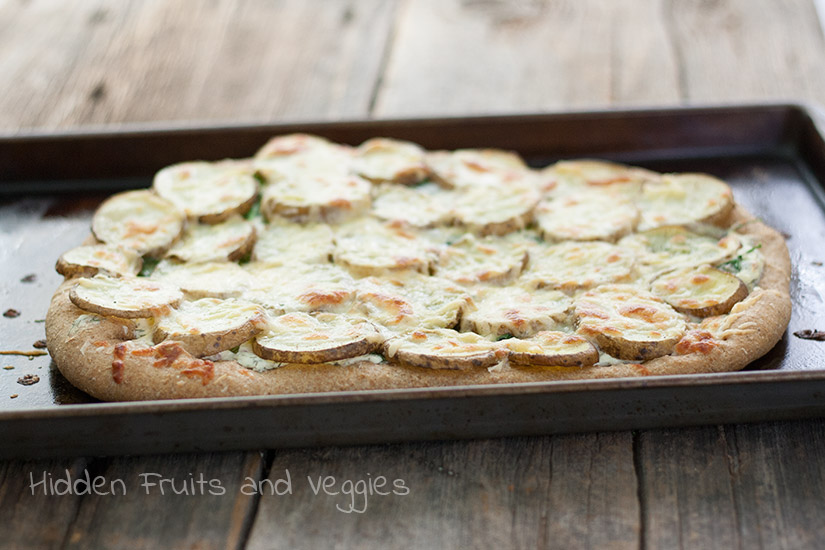 Potato Pizza with Dill Cream Cheese