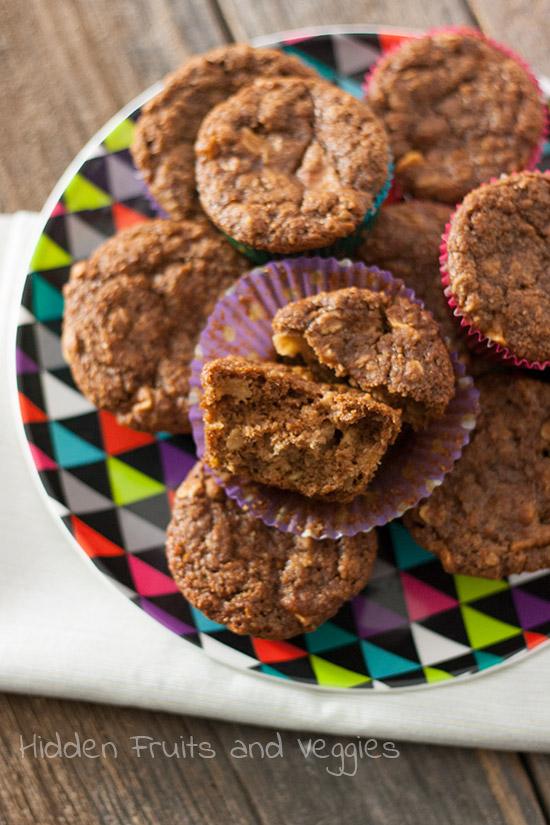 Apple Bran Muffins @hiddenfruitnveg