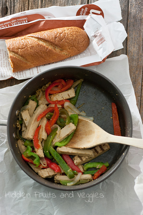 Vegetarian Chicken Philly @hiddenfruitnveg