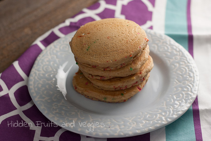 Vegan Funfetti Pancakes @hiddenfruitnveg