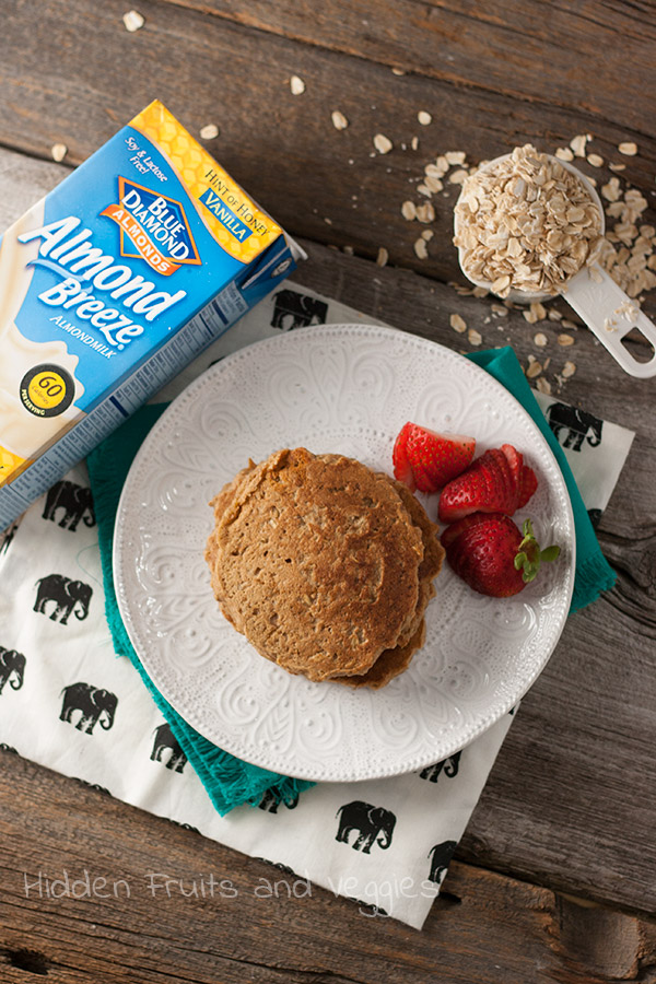 Overnight Oatmeal Cookie Pancakes @hiddenfruitnveg