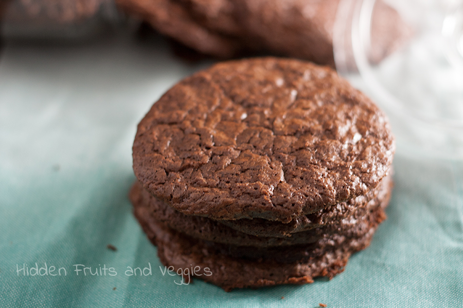 Peppermint Brownie Cookies @hiddenfruitnveg