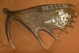 Moose Antler Cribbage Board