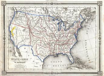 1852_Duvotenay_Map_of_the_United_States_(Gold_Rush)_-_Geographicus_-_EtatsUnis-duvotenay-1852