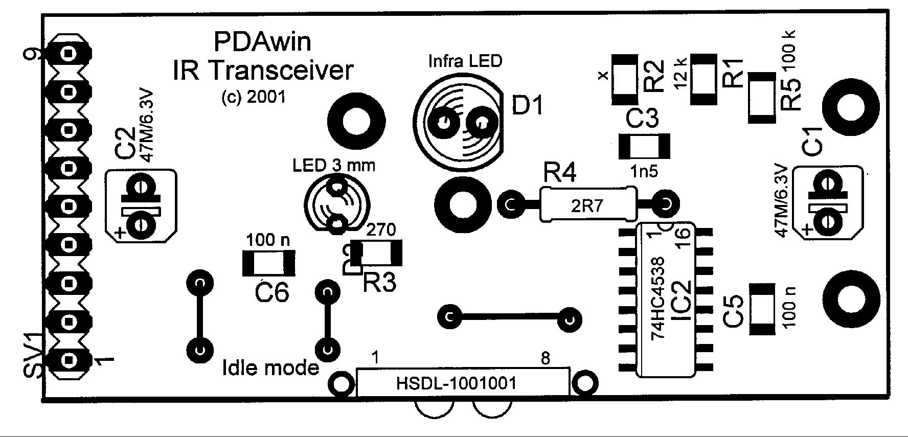 how to build ir transceiver 1 0 circuit diagram