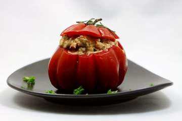 Ochsenherz-Tomaten-Salat