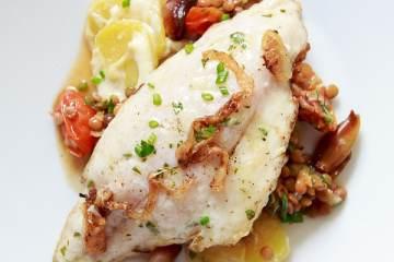 dorade-de-puy-linsen-kartoffelgratin-zitronenvinaigrette