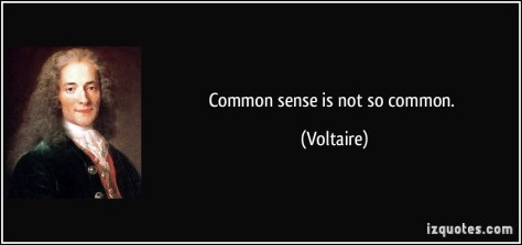 Common Sense not so common.