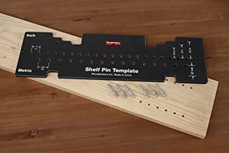 Woodpeckers Combination Shelf Pin Drill Template - drill template
