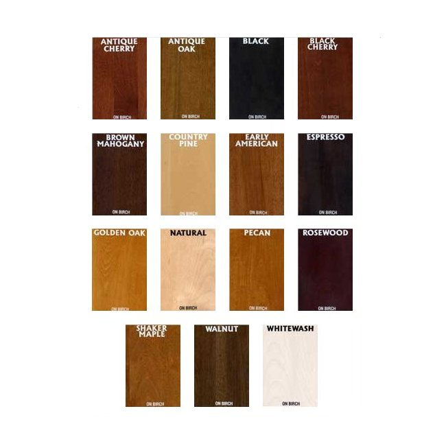 Wood Work Wood Stain Color Samples PDF Plans