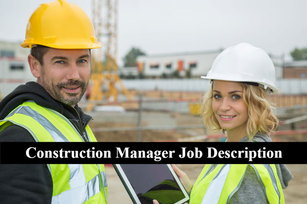 Construction Manager Job Description and Job Specification