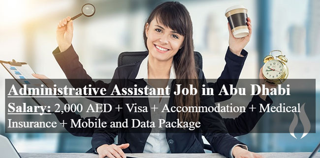 Administrative Assistant cum Customer Service Required in Abu Dhabi