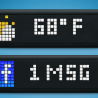 LaMetric by SmartAtoms, the coolest LED universal utility display with character...