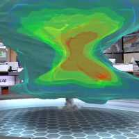 The Weather Channels 3D Tornado Simulator is Incredible.