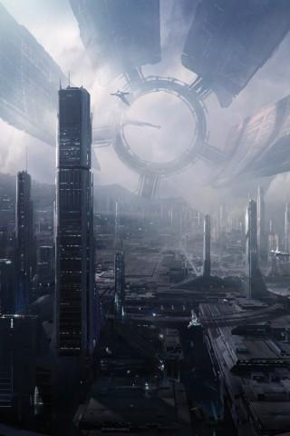 Mass Effect 2 Hd Wallpaper Future City Hd Wallpapers