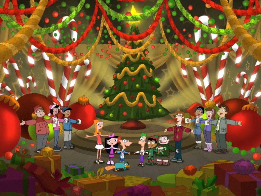Free Xmas Wallpapers Animated Phineas And Ferb Christmas Wallpaper Hd Wallpapers
