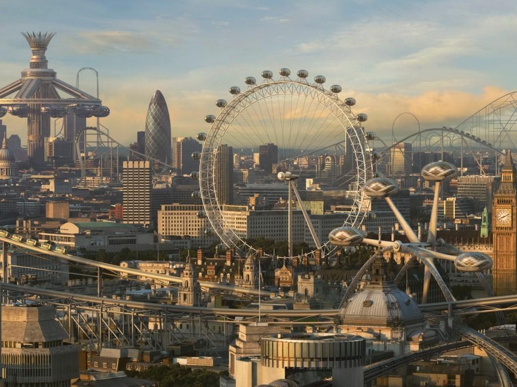 London Hd Wallpaper Iphone 6 Futuristic Theme Park City Hd Wallpapers