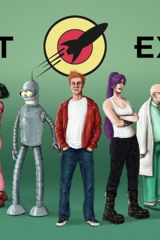 Car Wallpaper For Android Mobile Lifelike Planet Express Futurama Hd Wallpapers