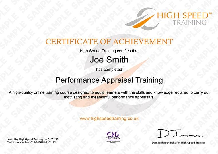 Performance Management Training Performance Appraisal