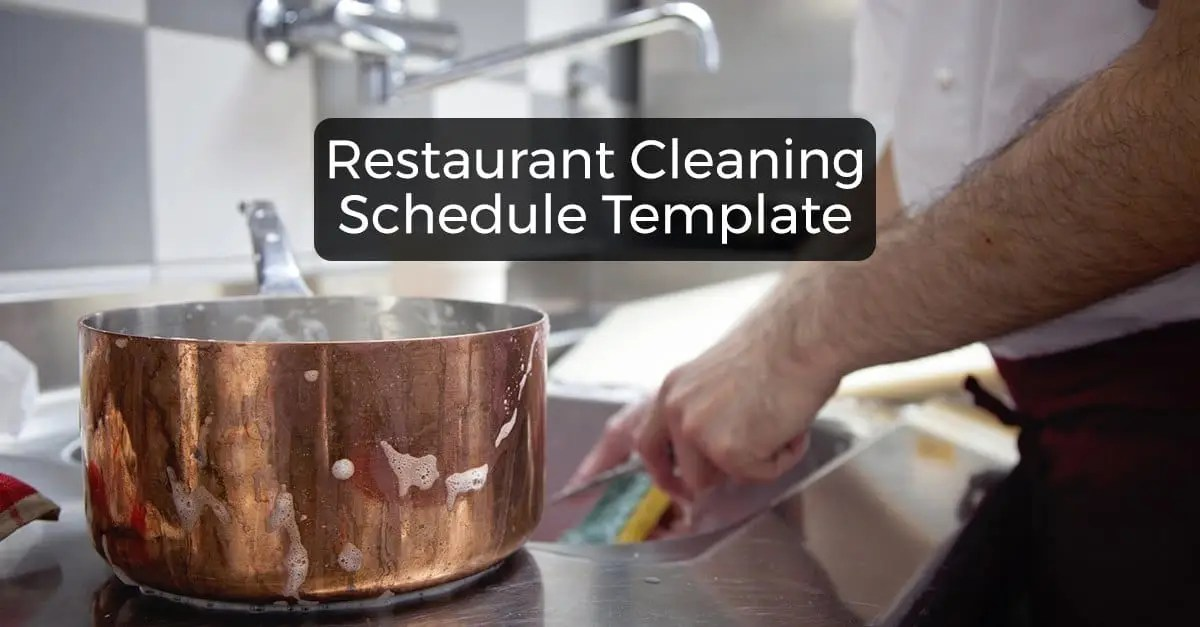 Restaurant Cleaning Schedule - Free Downloadable Template